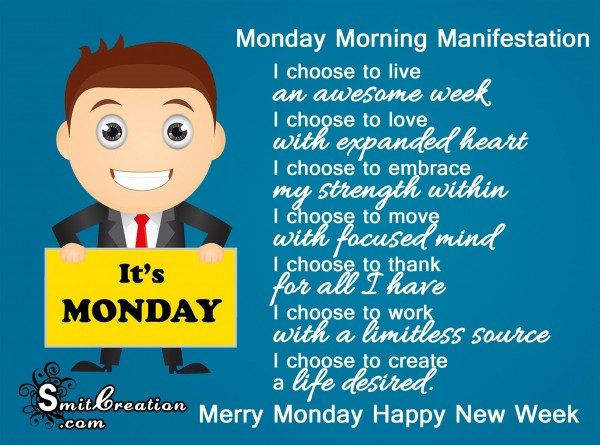 Merry Monday Happy New Week