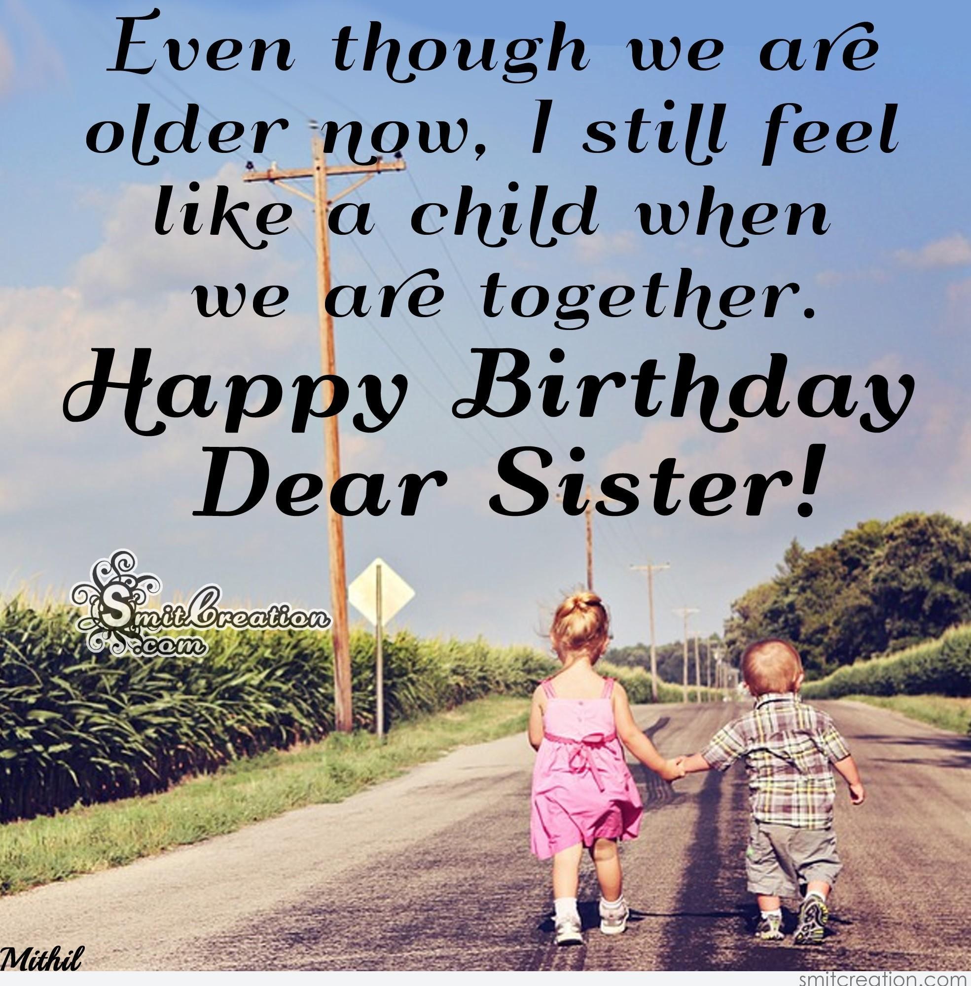 Happy Birthday Dear Sister Smitcreationcom
