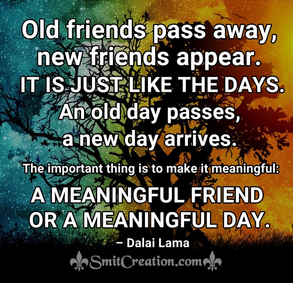 Old friends pass away