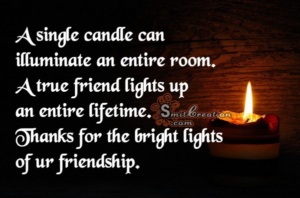 Thank you for the bright light of ur friendship