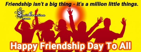 FB COVER – HAPPY FRIENDSHIP DAY TO ALL