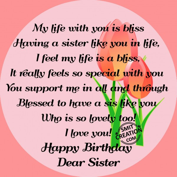 Happy Birthday Dear Sister