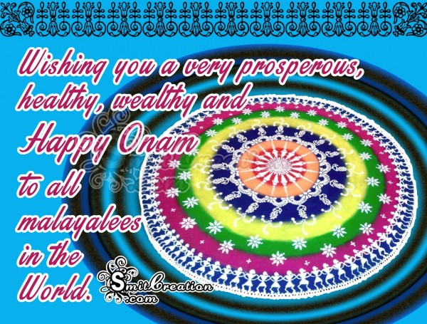 Wishing you A Happy Onam To all Malayalees