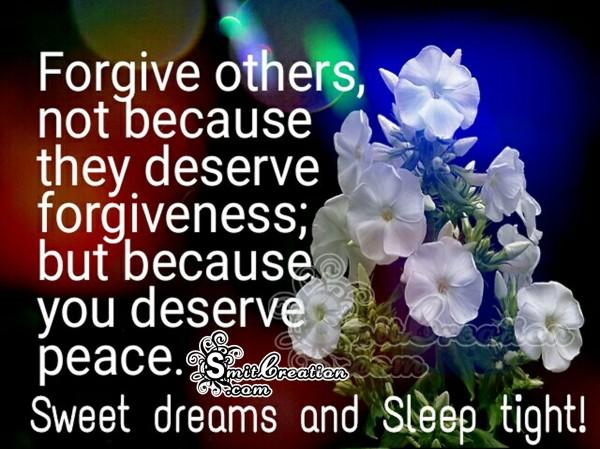 Sweet dreams and Sleep tight!