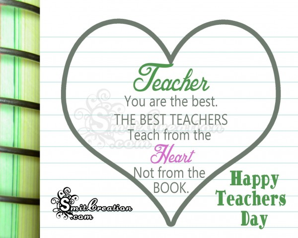 Happy Teacher's Day to Best Teacher