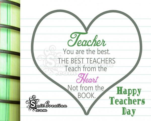 Happy Teacher's Day!