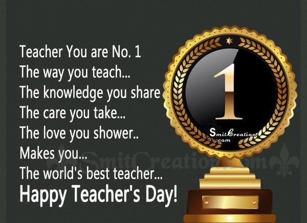 Happy Teacher's Day to No.1 Teacher