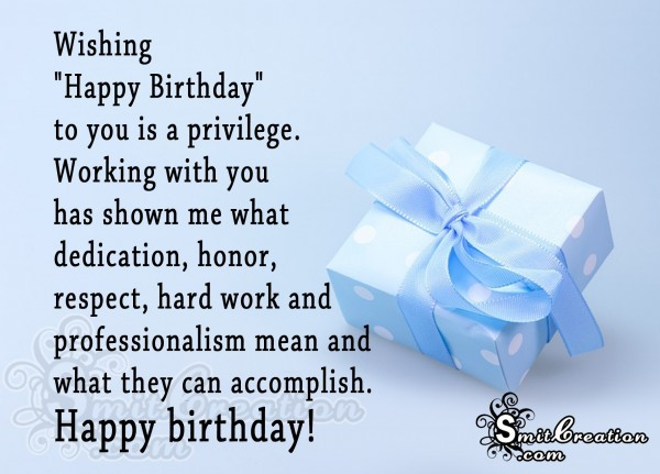 Happy Birthday to Colleague SmitCreation – Birthday Greetings to a Colleague