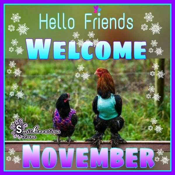 Hello Friends WELCOME NOVEMBER