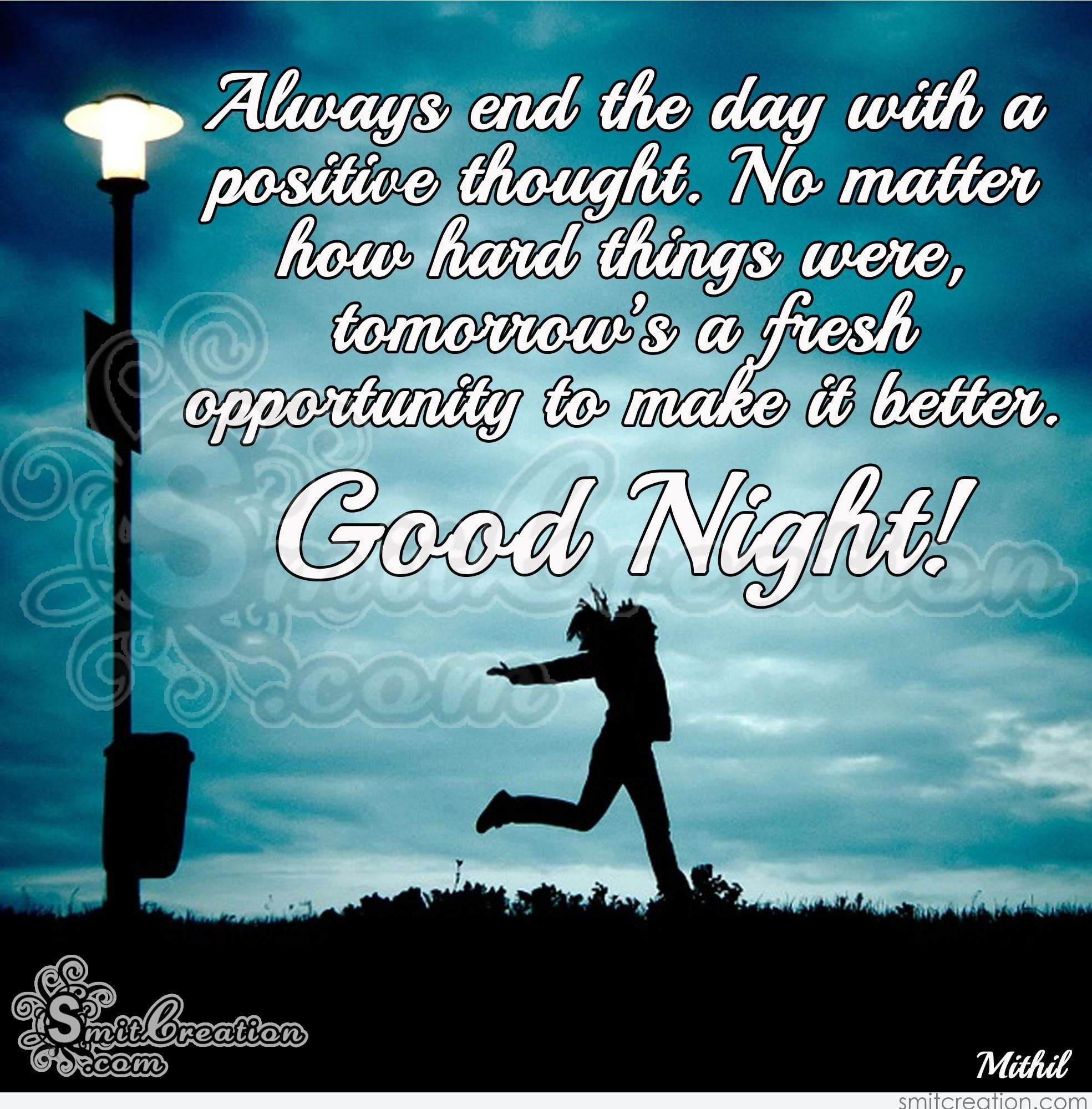 Inspirational Thought For The Day Good Night Inspirational Quotes Pictures And Graphics