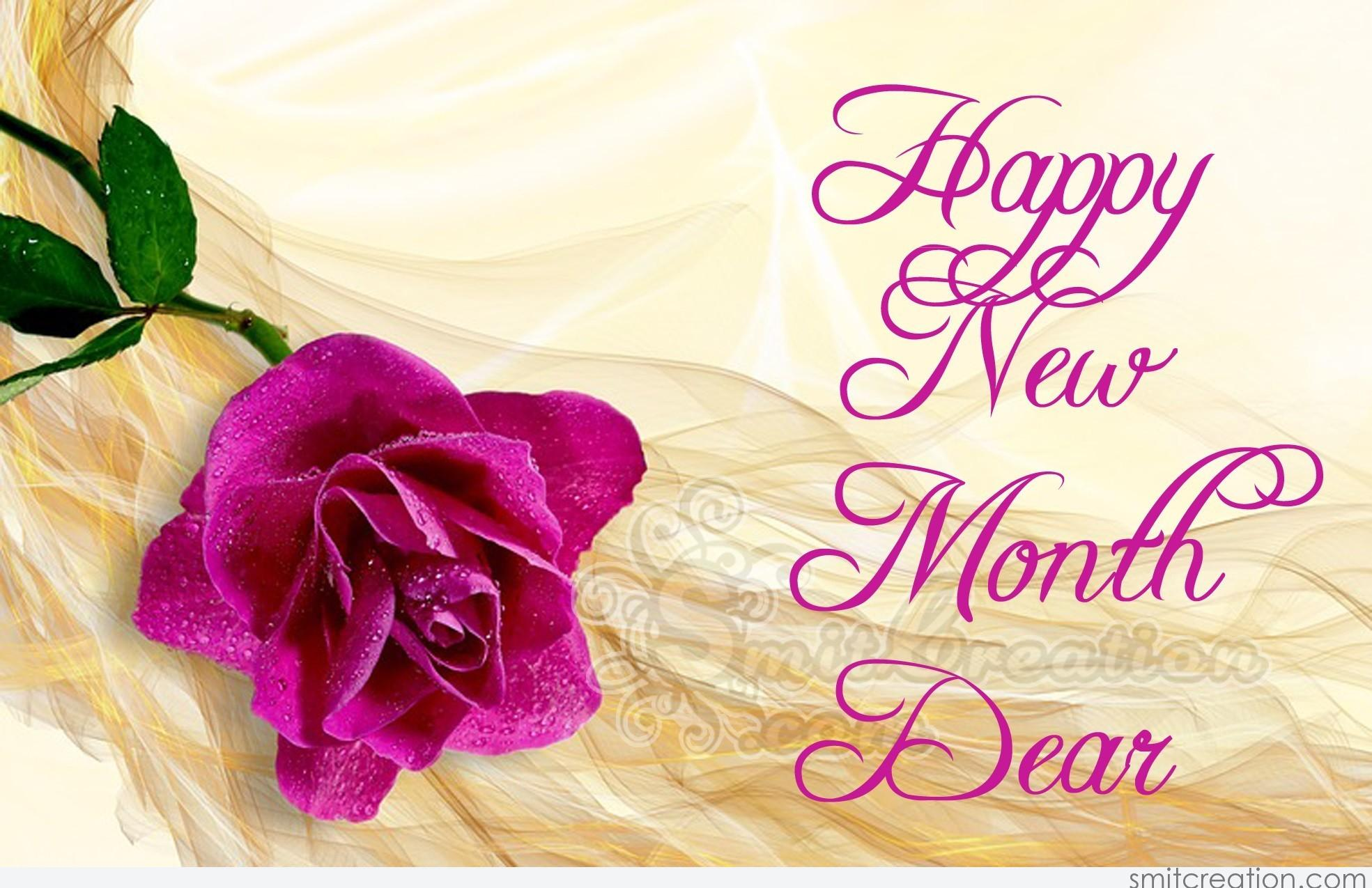 Happy New Month Dear - SmitCreation.com
