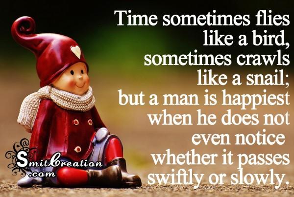 Time sometimes flies like a bird