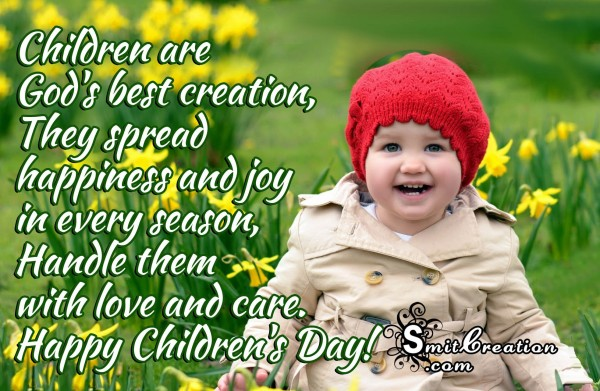 Happy Children's Day-Children are  God's best creation
