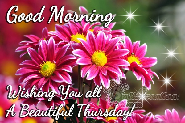 Good Morning Wishing You all A Beautiful Thursday