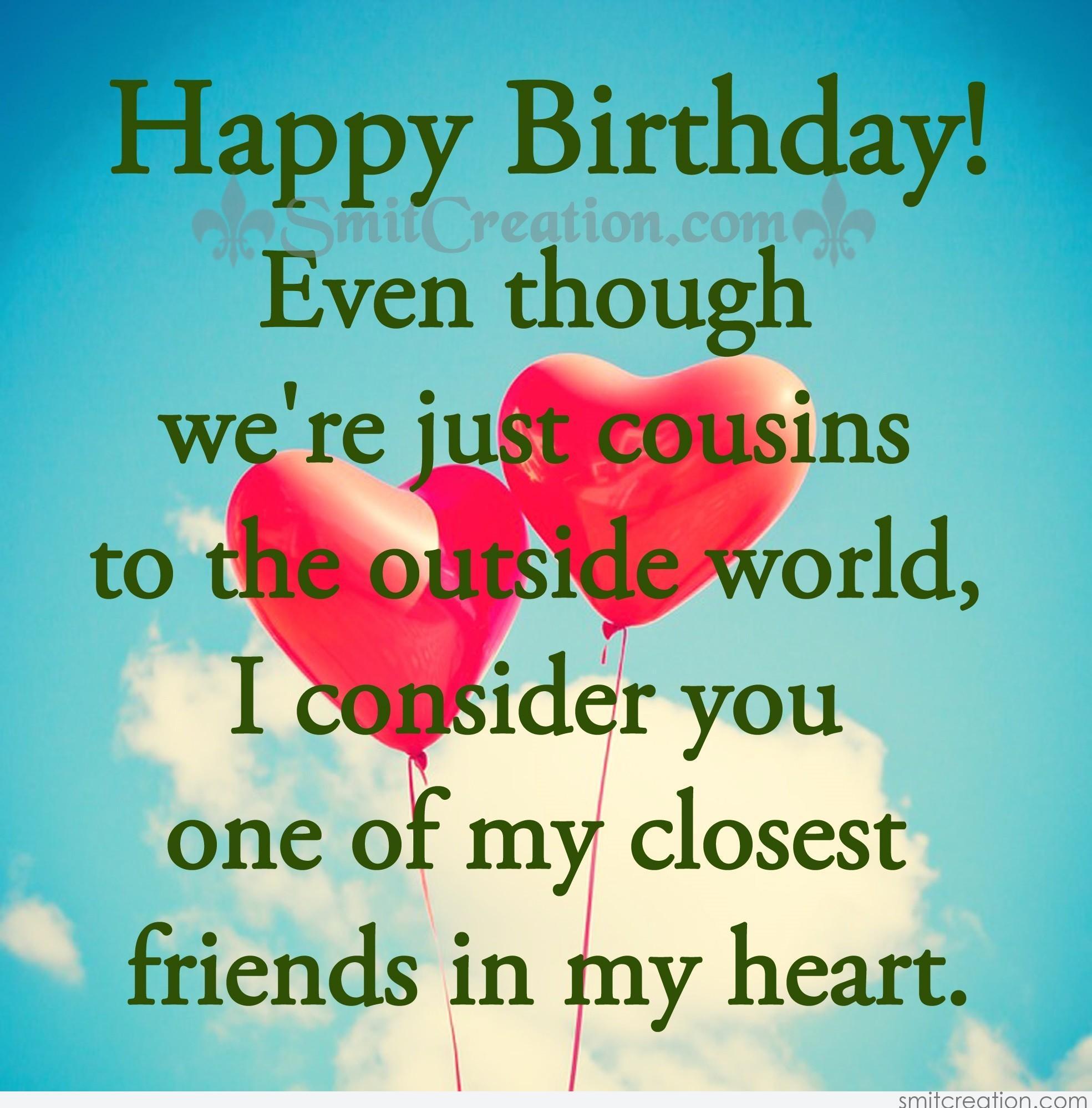 Happy Birthday Cousine Smitcreation Com Happy Birthday Wishes To My Cousin
