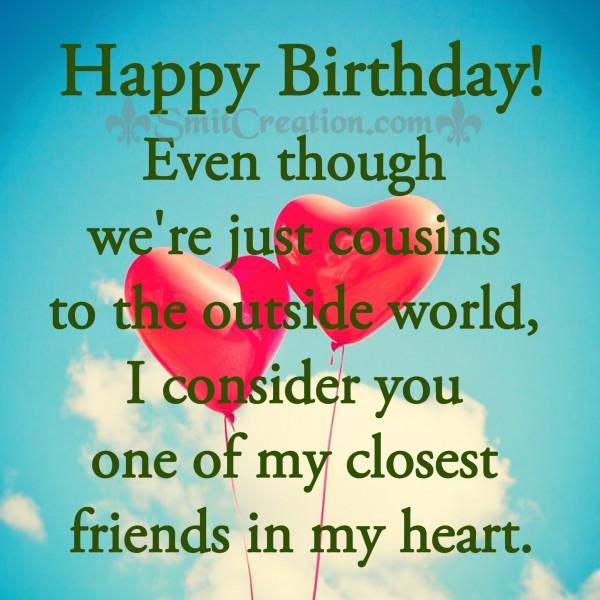Happy Birthday Cousine