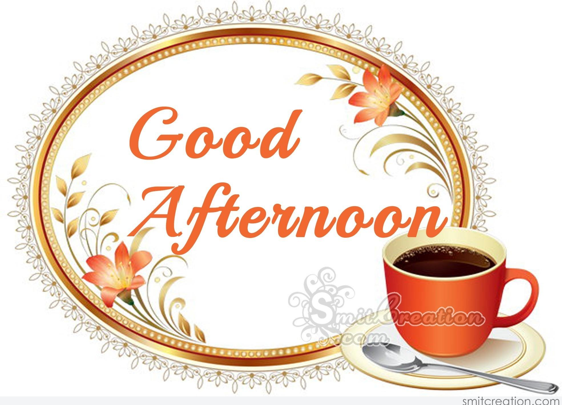 Good Afternoon Coffee Pictures and Graphics - SmitCreation.com #afternoonCoffee