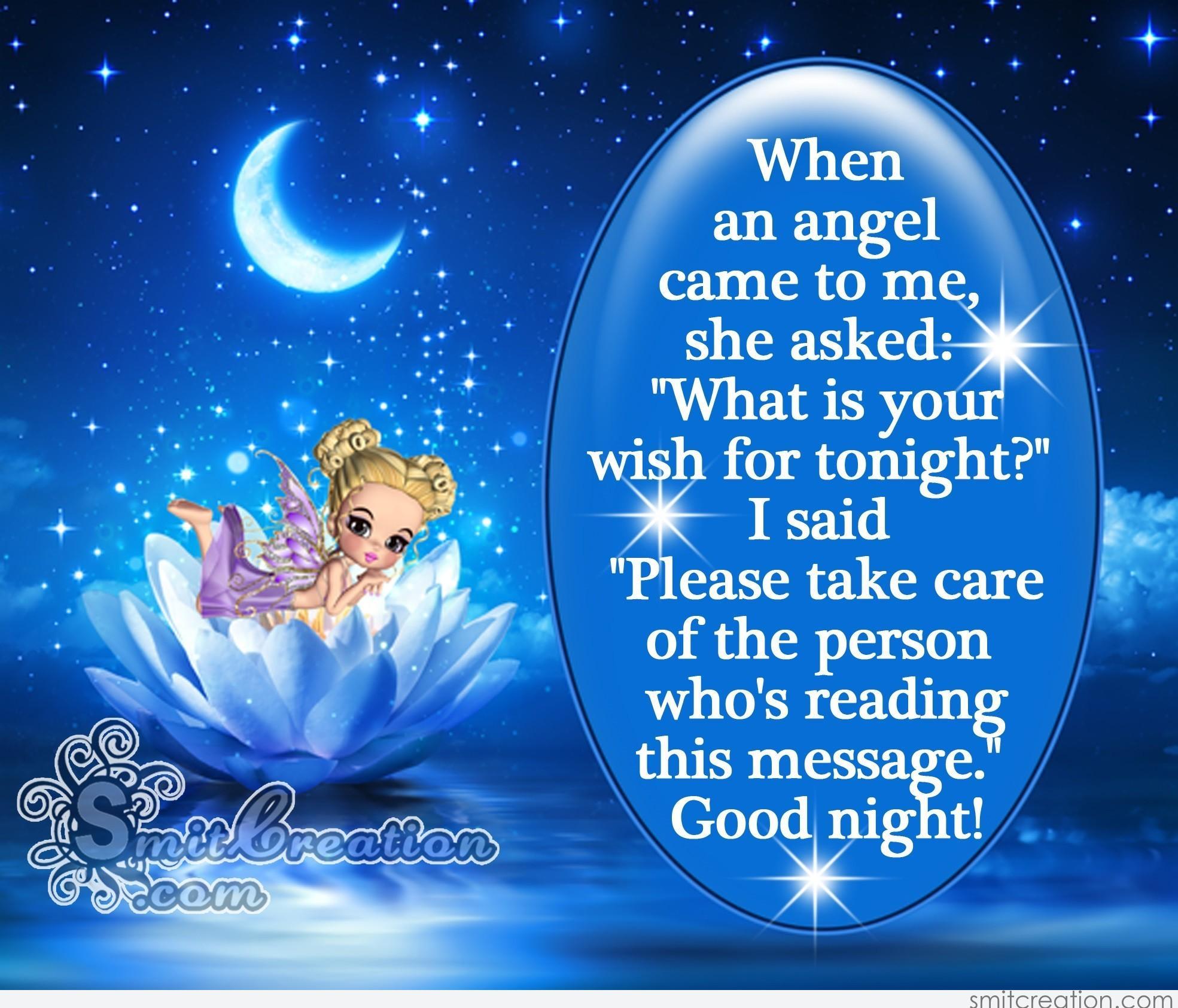 Good Night Angel Message Smitcreation