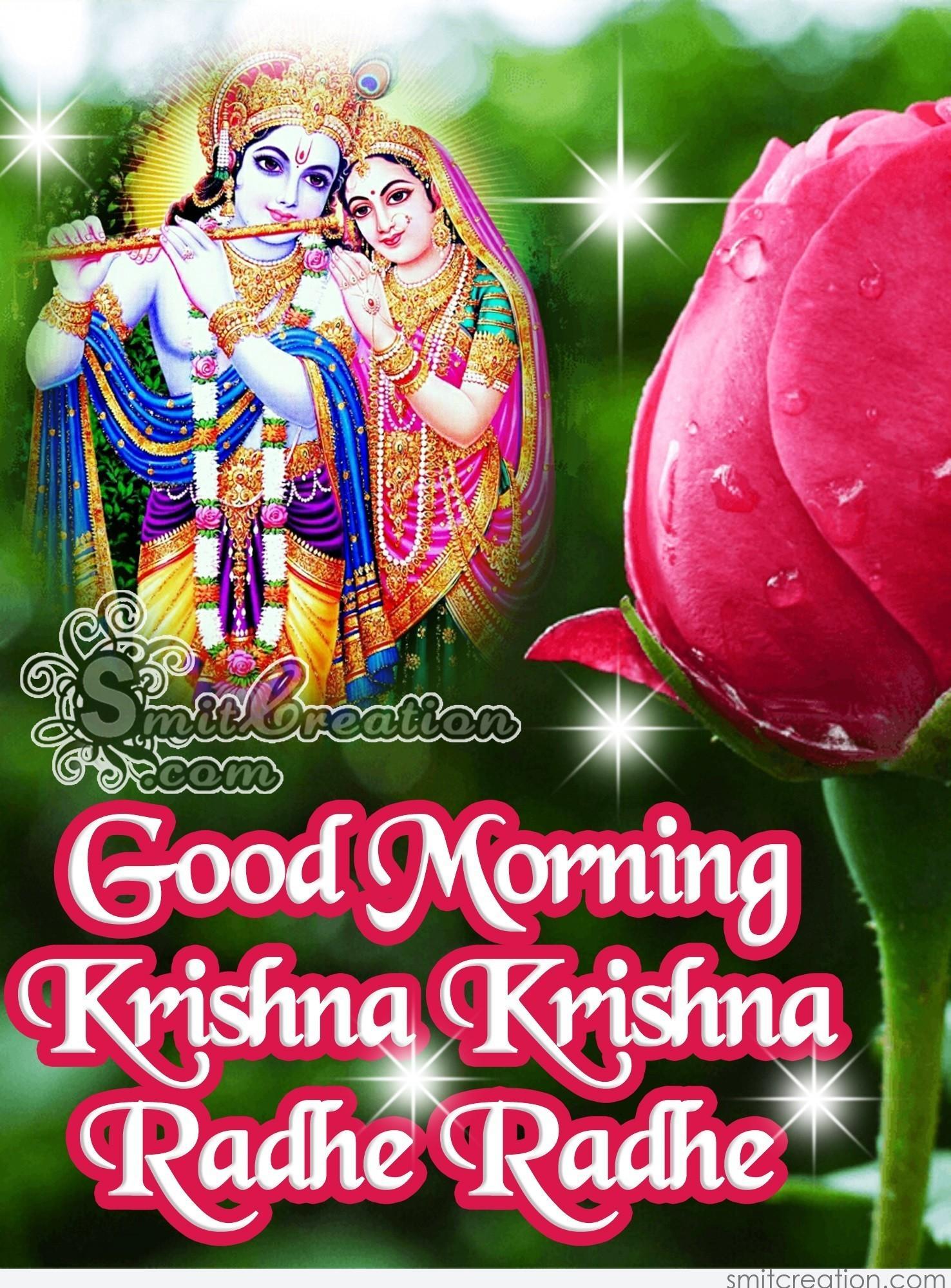 Good Morning Krishna Krishna Radhe Radhe Smitcreationcom