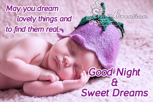 Good Night Sweet Dreams Baby Image
