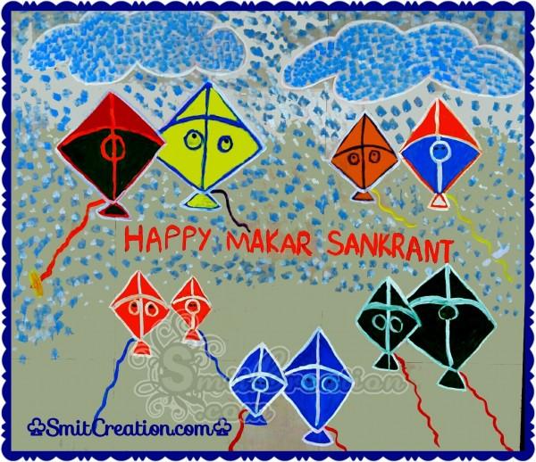 Happy Makar Sankranti Painting