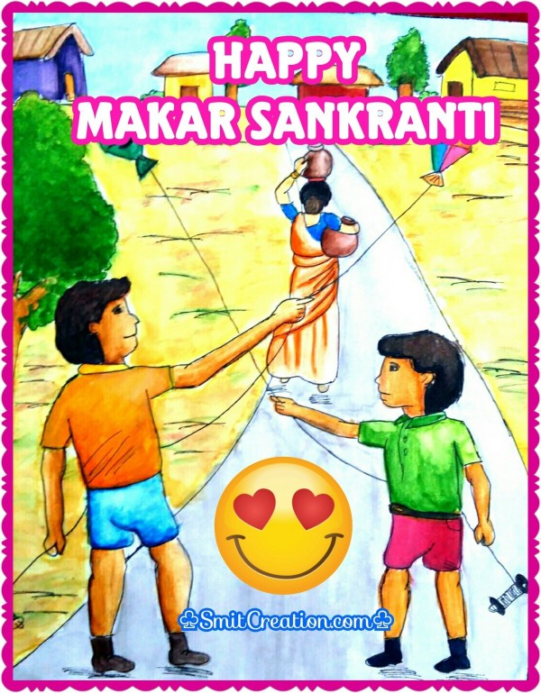 Happy Makar Sankranti Painting