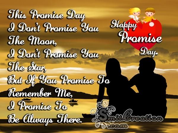 HappyPromiseDay – IPromiseTo Be Always There