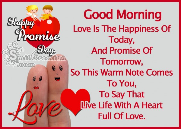 Good Morning – Happy Promise Day
