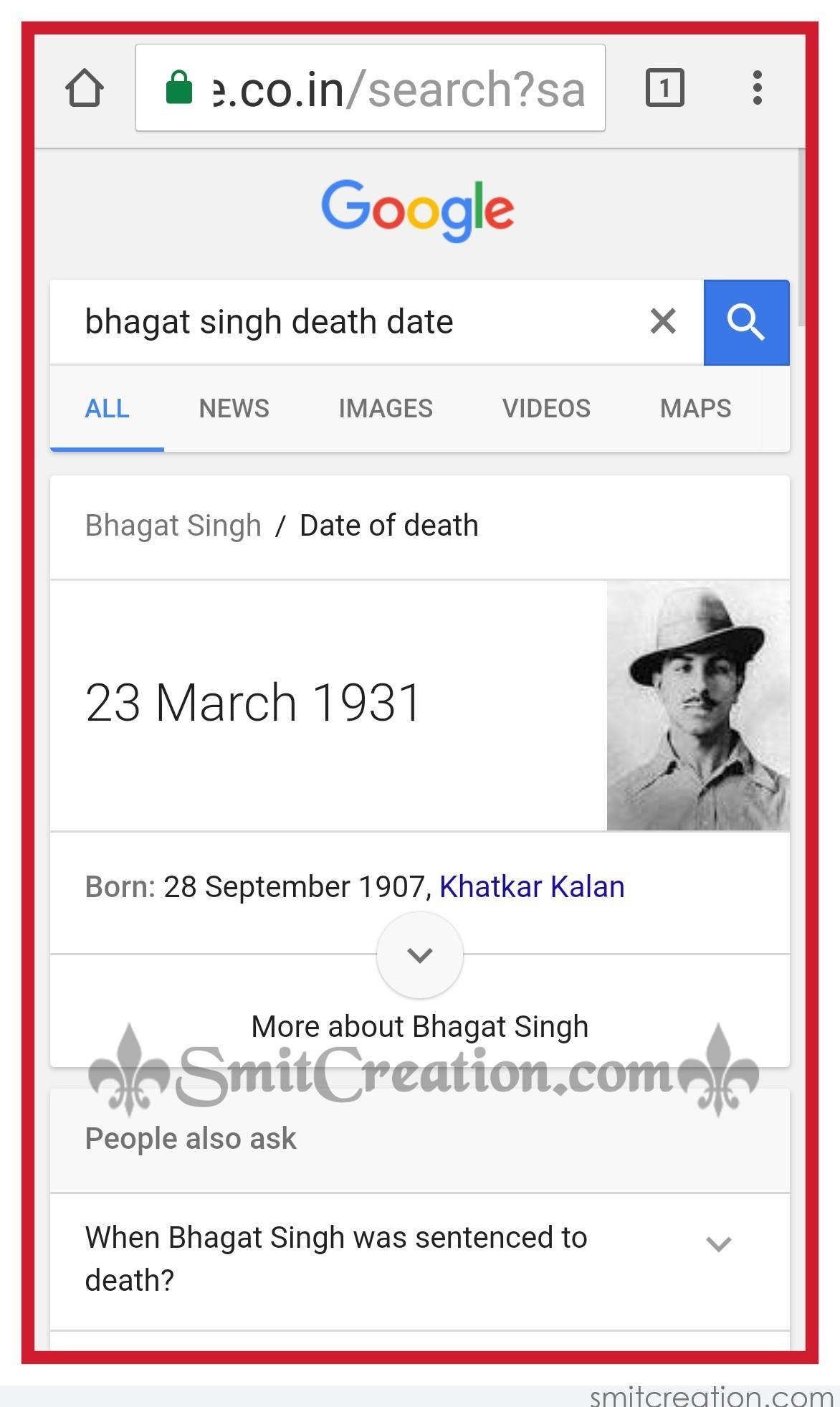 Beaware of Fake News about Bhagat Singh hanged - SmitCreation com