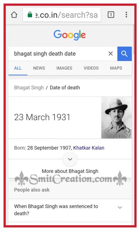 Beaware of Fake News about Bhagat Singh hanged