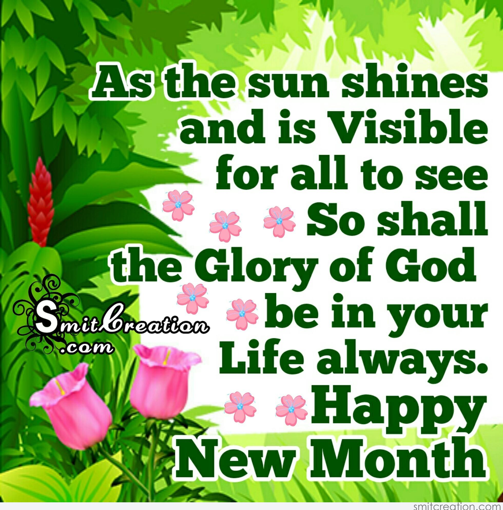 New month greeting text message image collections greetings card happy new month the glory of god be in your life always m4hsunfo