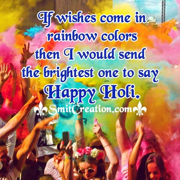 HappyHoli Brightest Wish