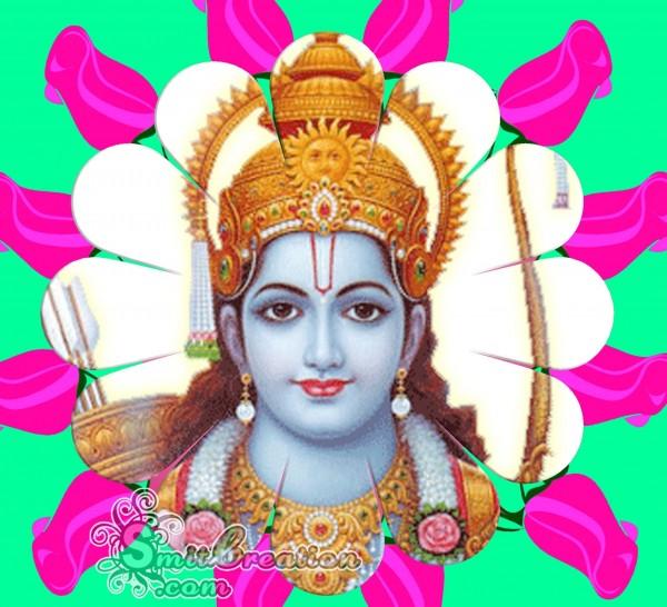 Shri Ram With Roses