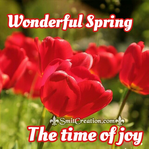 Welcome Spring The Time Of Joy