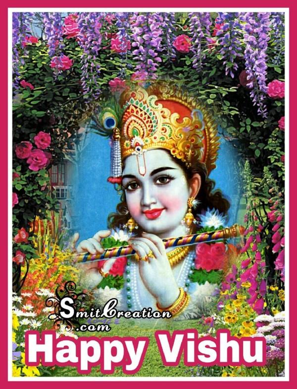 Happy Vishu – Krishna Image