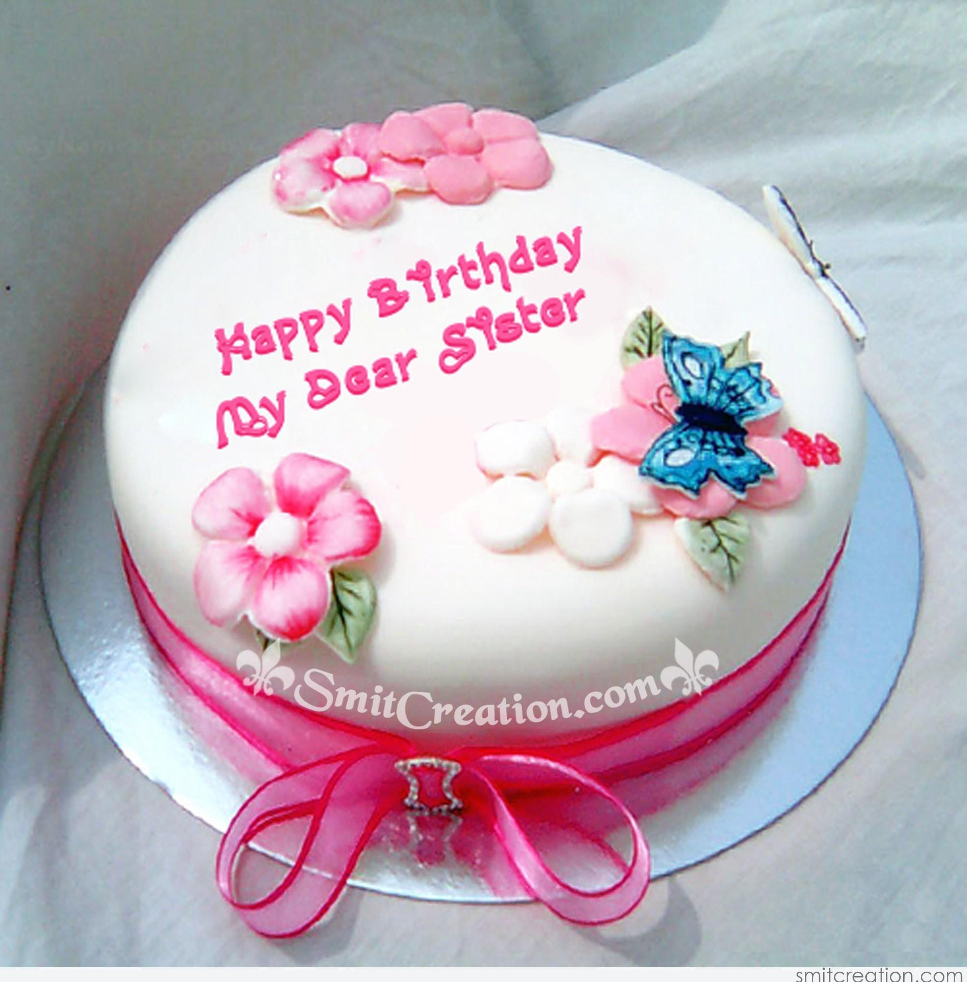 Image Of Birthday Cake For Sister To Share On Facebook