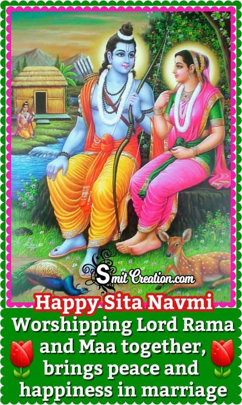 Happy Sita Navmi – Worshipping Lord Rama and Maa together