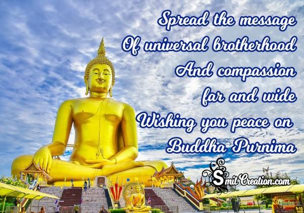 Wishing you peace onBuddha Purnima