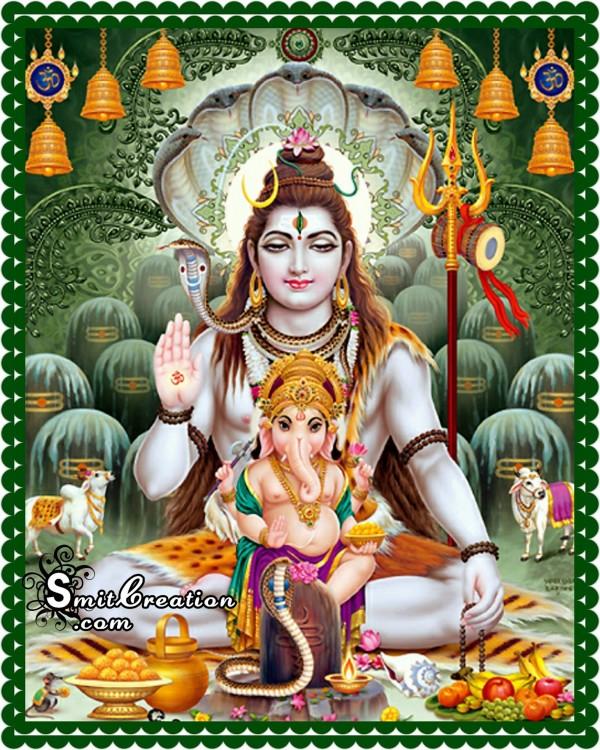Bal Ganesha With Lord Shankar