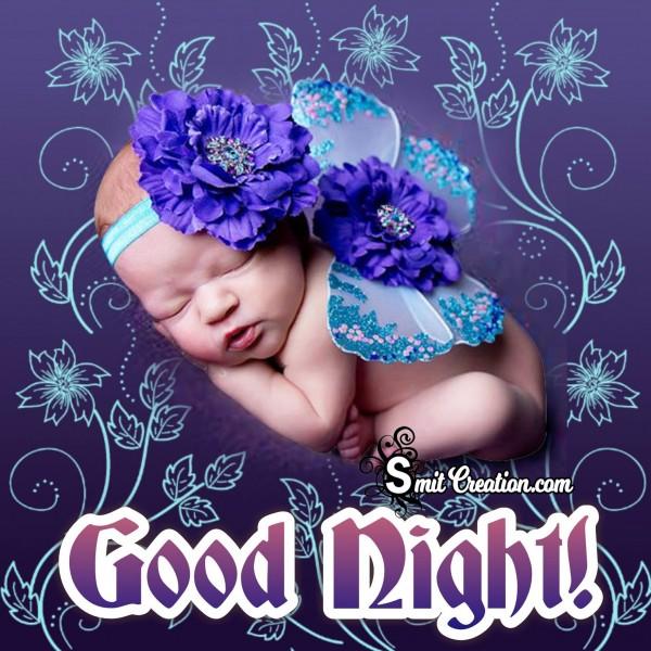Good Night Beautiful Baby Image