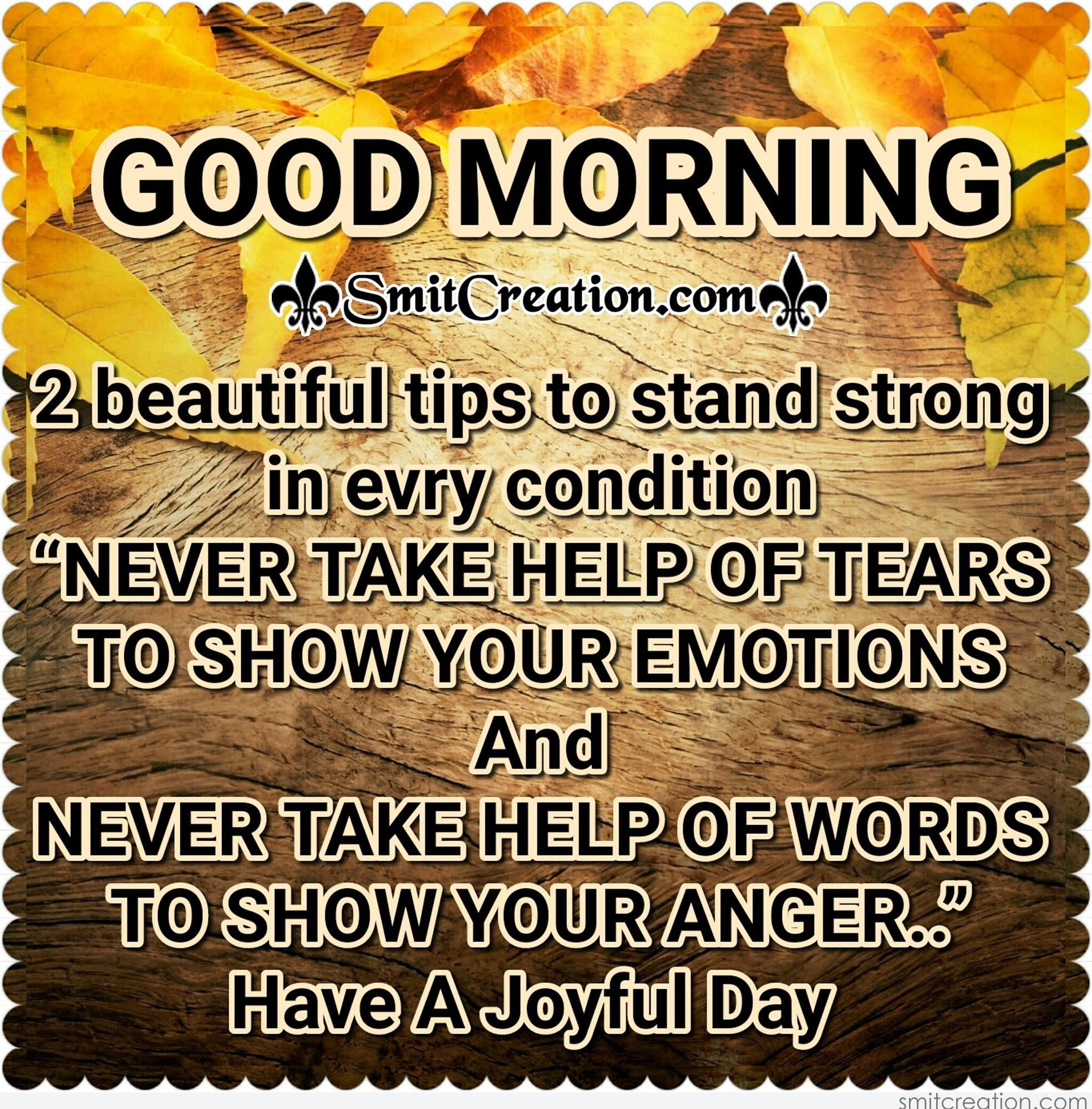 Good Morning Zombie Tips : Good morning beautiful tips to stand strong in every