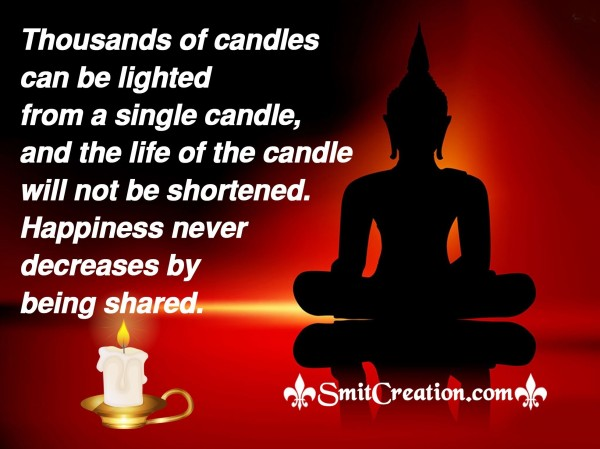 Thousands Of Candles Can Be Lighted  From A Single Candle