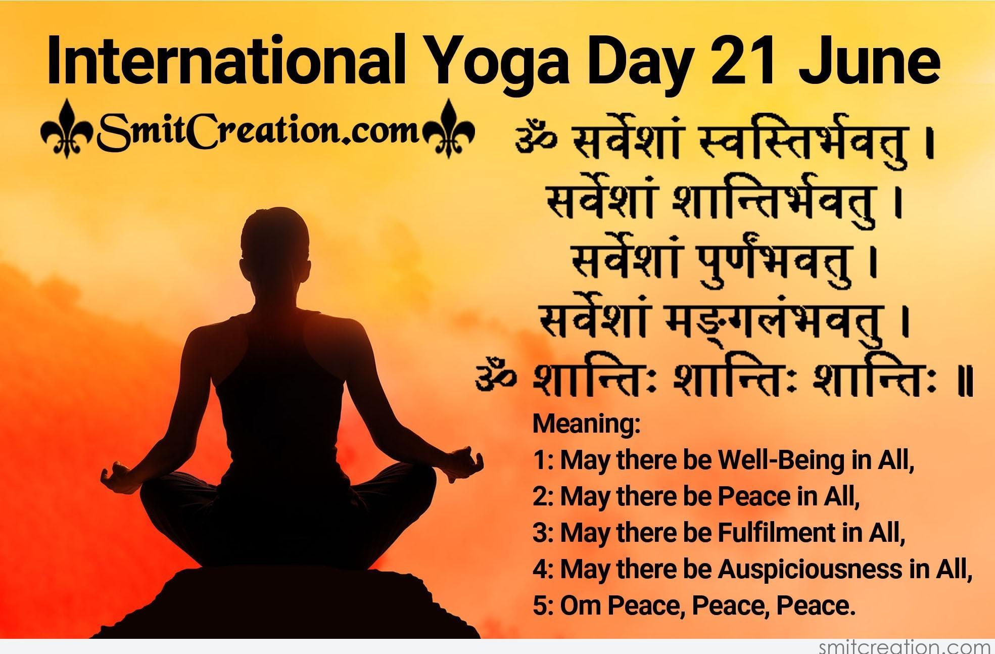 International Yoga Day 21 June Smitcreation Com