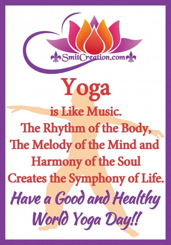 Have a Good and Healthy World Yoga Day