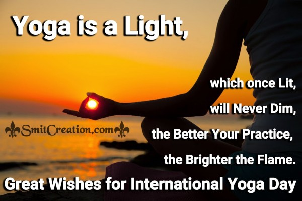 Great Wishes for International Yoga Day