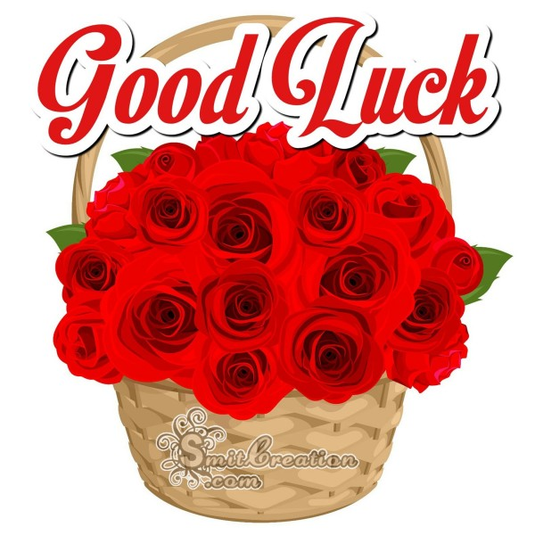 Good Luck Rose Basket