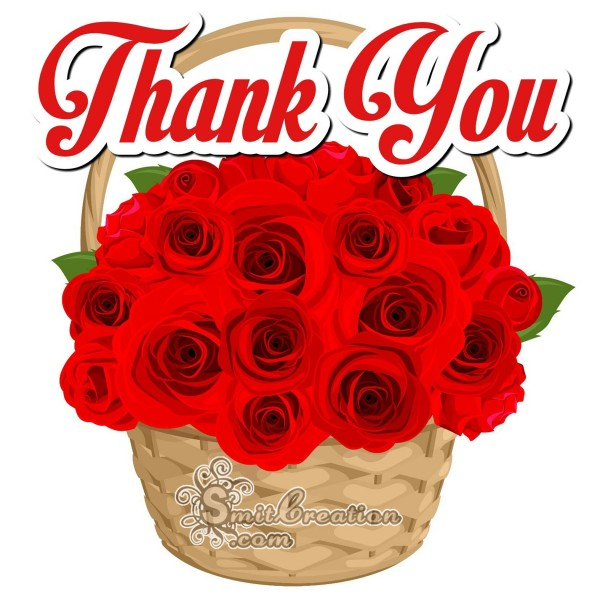 Thank You  Rose Basket