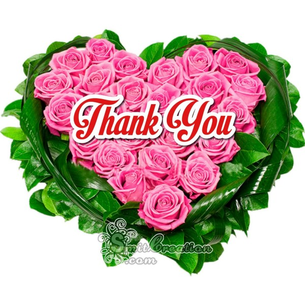 Thank You  Rose Heart Bouque