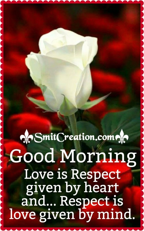 Good Morning – Love Is Respect