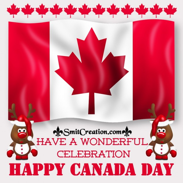 Have A Wonderful Celebration Happy Canada Day